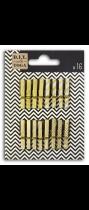 16 mini pinces à linge - Or