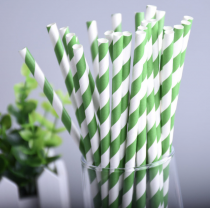 25 Pailles à diagonales - vert