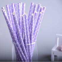 25 Pailles à pois - Violet clair