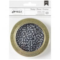 """American Crafts Magnetic Office Tins 3.5\"""" Stripe Paper Clips 120/Pkg"""