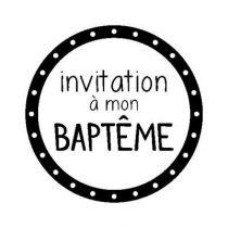 BLOC + TAMPON TRANSPARENT INVITATION BAPTEME BAPTEME