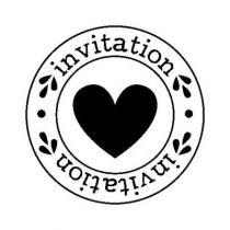 BLOC + TAMPON TRANSPARENT INVITATION