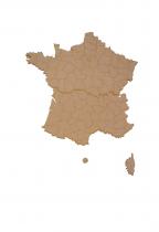 CARTE DE FRANCE A COLLER MDF 3 MM