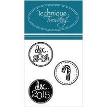 CLEAR STAMPS DECEMBER YEAR FLAIR