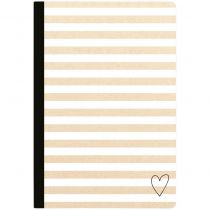 "Color Crush Composition Planner Notebook 7.5""X9.75\"" Kraft Stripe W/80 Lined Sheets"