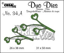Duo Dies no. 34A Leaves 4 mirror image