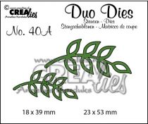 Duo Dies no. 40A Leaves 8 mirror image