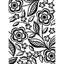 EMBOSSING FOLDER DAINTY FLOWER