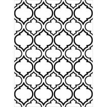 EMBOSSING FOLDER QUATREFOIL DOUBLE