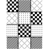 EMBOSSING FOLDER QUILT BLOCKS