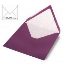 Enveloppe 16x16 cm, 90g, purple velvet