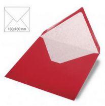 Enveloppe 16x16 cm, 90g, rouge cardinal