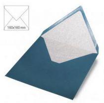 Enveloppe 16x16 cm, 90g, turquoise foncé
