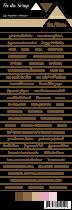 étiquette Carterie fond blanc écriture marron