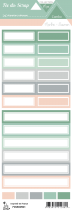 étiquette combo menthe/saumon étiquettes rectangles