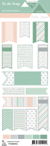 étiquette combo menthe/saumon fanions