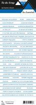 étiquette les essentiels bandes de mots bleu chic