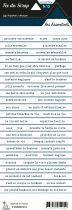 étiquette les essentiels bandes de mots bleu marin
