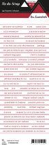 étiquette les essentiels bandes de mots rouge chic