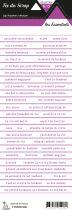 étiquette les essentiels bandes de mots violet chic