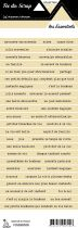 étiquette les essentiels beige bandes de mots