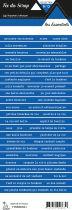 étiquette les essentiels bleu jean bandes de mots