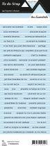 étiquette les essentiels bleu pale bandes de mots