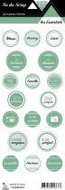 étiquette les essentiels étiquettes rondes menthe