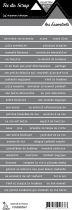 étiquette les essentiels gris foncé bandes de mots