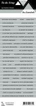 étiquette les essentiels gris moyen bandes de mots