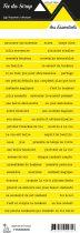 étiquette les essentiels jaune bandes de mots