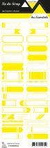 étiquette les essentiels jaune étiquettes tickets