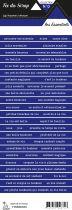 étiquette les essentiels majorelle bandes de mots