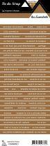 étiquette les essentiels marron bandes de mots