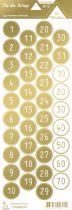 étiquette les essentiels métallisés chiffres or