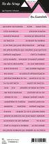 étiquette les essentiels rose bandes de mots
