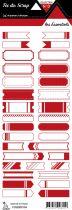 étiquette les essentiels rouge étiquettes tickets