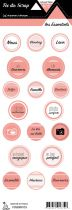 étiquette les essentiels saumon moyen étiquettes rondes