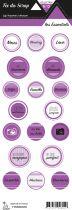 étiquette les essentiels violet étiquettes rondes
