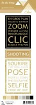 étiquette Un air Chic beige cartes project life