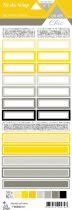 étiquette Un air Chic jaune étiquettes rectangles