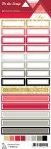 étiquette Un air Chic rouge étiquettes rectangles