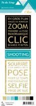 étiquette Un air Chic turquoise cartes project life