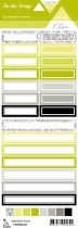 étiquette Un air Chic vert étiquettes rectangles