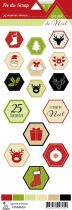 étiquette un air de noel hexagones à motifs