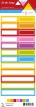 étiquette un air enfantin étiquettes rectangles