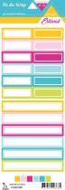 étiquette Un air estival étiquettes rectangles