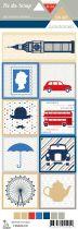 Etiquette un air londonien - cartes project life 3