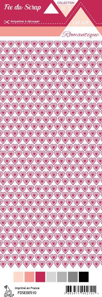 étiquette un air romantique coeurs rouges
