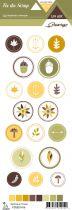 étiquette un air sauvage - automne ronds motifs